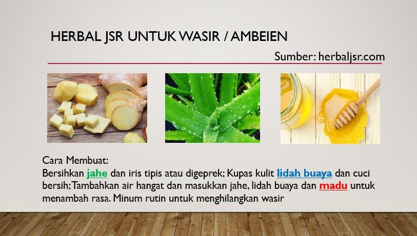 Resep JSR Untuk Ambeien Wasir
